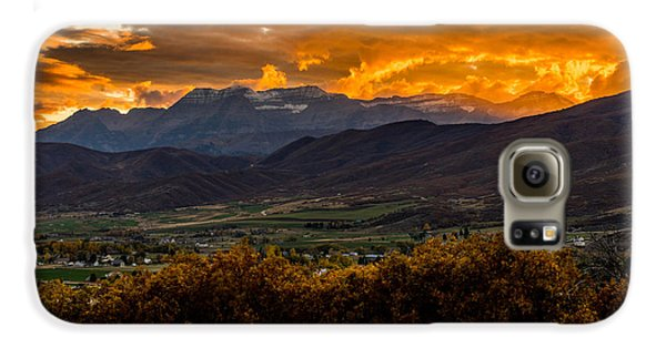 Midway Utah Sunset Galaxy S6 Case
