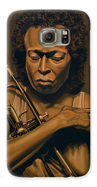 Trumpet Galaxy S6 Case - Miles Davis Painting by Paul Meijering