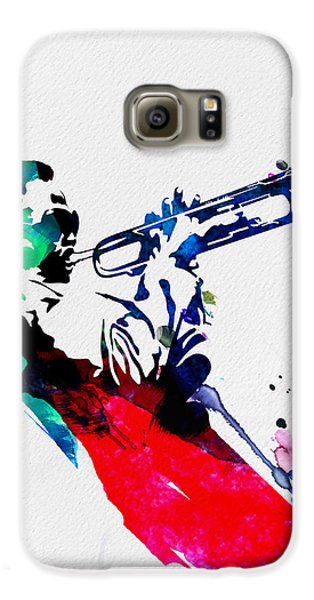 Jazz Galaxy S6 Case - Miles Watercolor by Naxart Studio