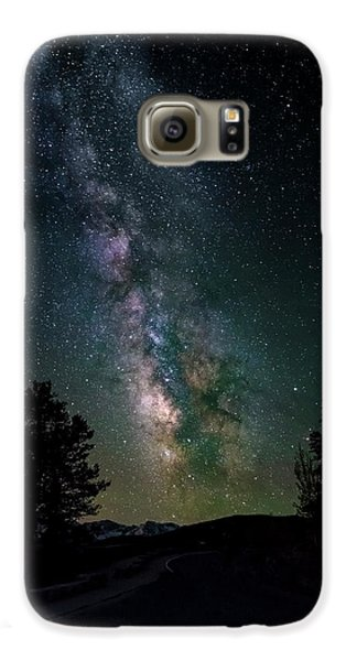 Milky Way Over Rocky Mountains Galaxy S6 Case