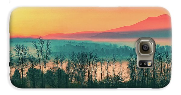 Misty Mountain Sunrise Part 2 Galaxy S6 Case by Alan Brown