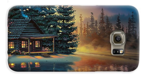 Galaxy S6 Case featuring the painting Misty Refection by Al Hogue