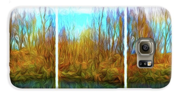 Misty River Vistas - Triptych Galaxy S6 Case