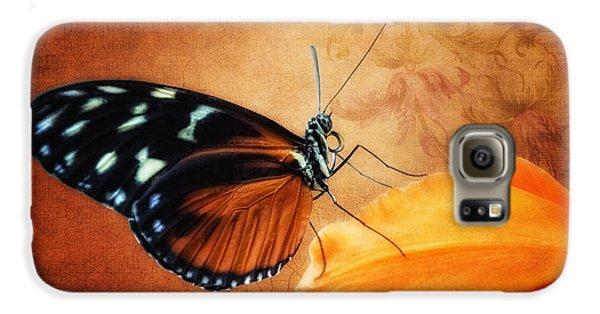 Monarch Butterfly On An Orchid Petal Galaxy S6 Case by Tom Mc Nemar