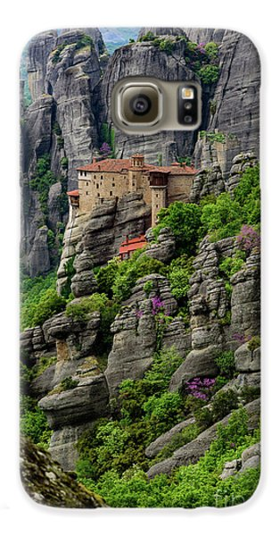 Monastery Of Saint Nicholas Of Anapafsas, Meteora, Greece Galaxy S6 Case