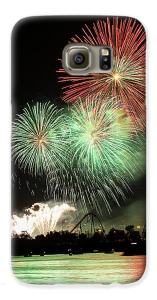 Montreal-fireworks Galaxy S6 Case by Mircea Costina Photography