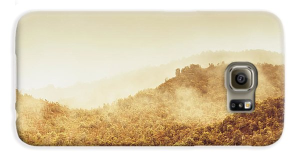 Mount Rushmore Galaxy S6 Case - Moody Mountain Morning by Jorgo Photography - Wall Art Gallery