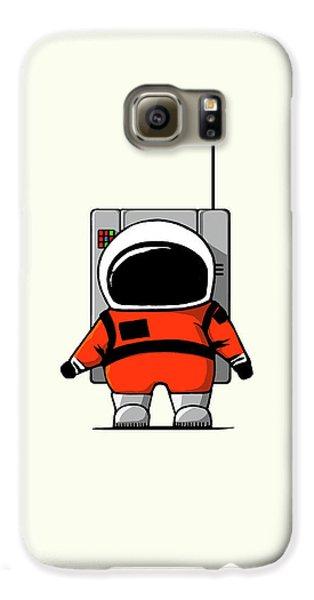 Moon Man Galaxy S6 Case by Nicholas Ely