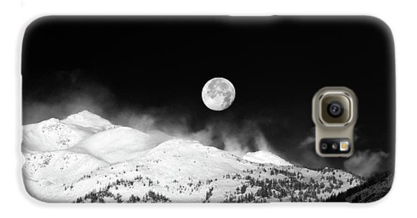 Moon Over The Alps Galaxy S6 Case by Silvia Ganora
