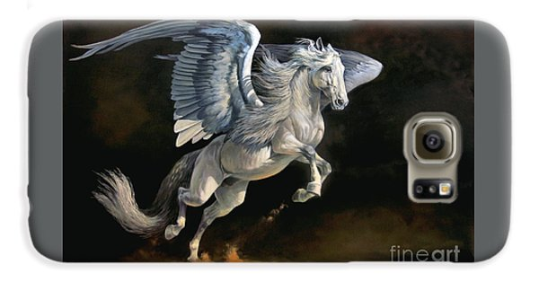 Pegasus Galaxy S6 Case - Moonlight Magic by Jeanne Newton Schoborg