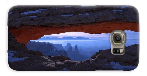 Desert Galaxy S6 Case - Moonlit Mesa by Chad Dutson