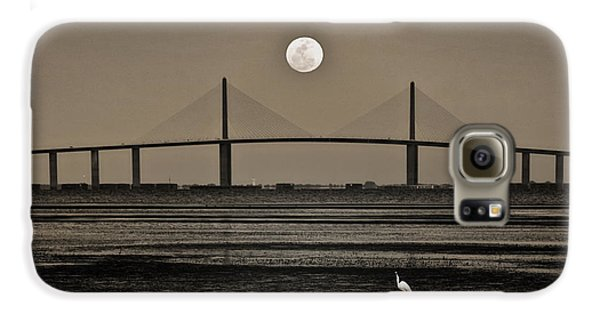 Moonrise Over Skyway Bridge Galaxy S6 Case