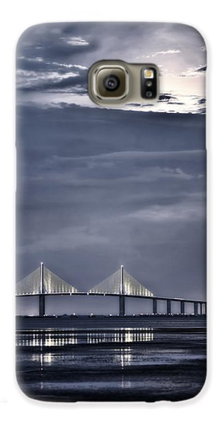 Moonrise Over Sunshine Skyway Bridge Galaxy S6 Case