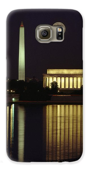 Lincoln Memorial Galaxy S6 Case - Moonrise Over The Lincoln Memorial by Richard Nowitz