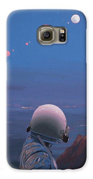 Moons Galaxy S6 Case by Scott Listfield