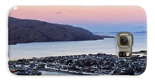 Moonset Sunrise Over Ullapool Galaxy S6 Case by Grant Glendinning