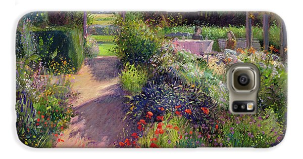 Garden Galaxy S6 Case - Morning Break In The Garden by Timothy Easton
