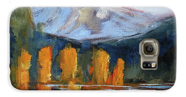 Galaxy S6 Case featuring the painting Morning Light Mountain Landscape Painting by Nancy Merkle