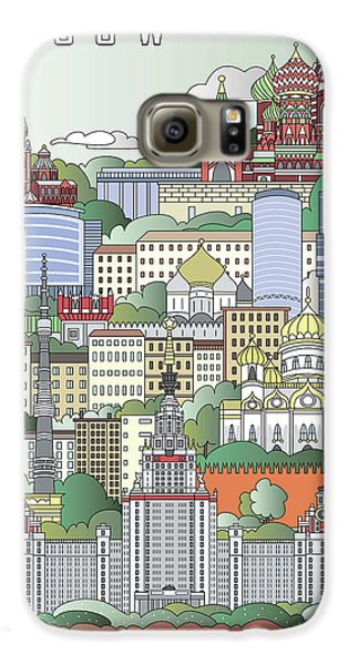Moscow City Poster Galaxy S6 Case by Pablo Romero