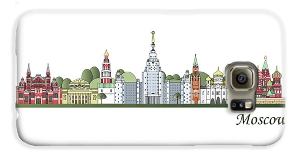 Moscow Skyline Colored Galaxy S6 Case by Pablo Romero