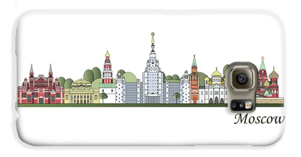 Moscow Skyline Colored Galaxy S6 Case