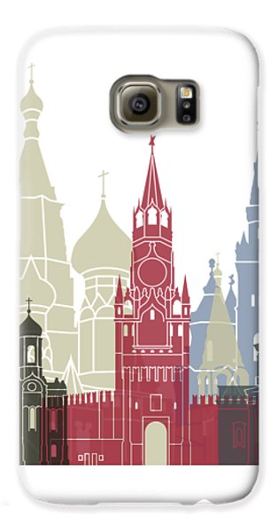 Moscow Skyline Poster Galaxy S6 Case by Pablo Romero