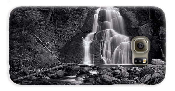 Moss Glen Falls - Monochrome Galaxy S6 Case by Stephen Stookey