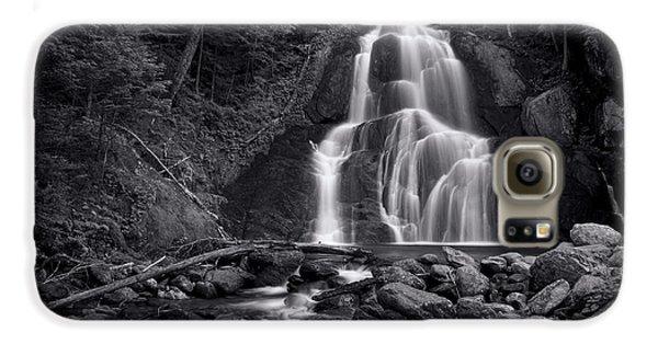 Galaxy S6 Case - Moss Glen Falls - Monochrome by Stephen Stookey