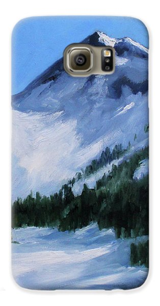 Galaxy S6 Case featuring the painting Mount Baker Glacier by Nancy Merkle