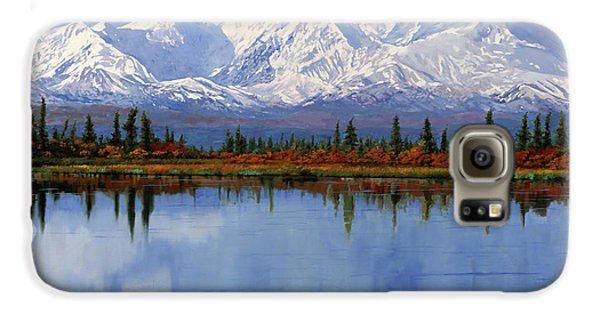 Mount Rushmore Galaxy S6 Case - mount Denali in Alaska by Guido Borelli