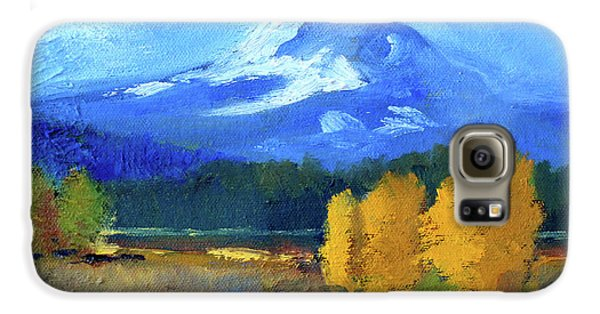 Galaxy S6 Case featuring the painting Mount Hood by Nancy Merkle