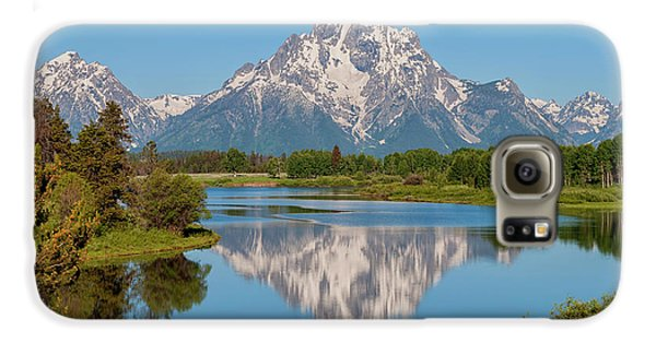 Mountain Galaxy S6 Case - Mount Moran On Snake River Landscape by Brian Harig