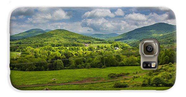 Mountain Field Of Greens Galaxy S6 Case