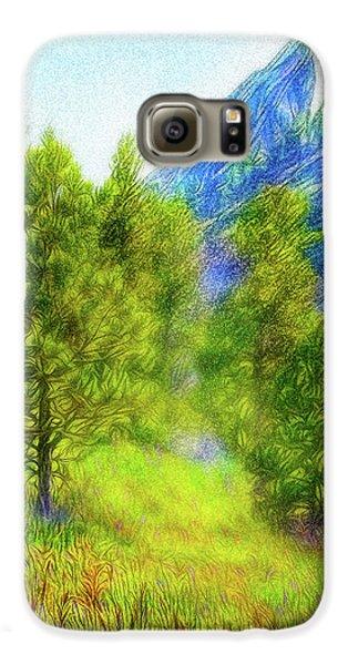 Mountain Field Springtime Galaxy S6 Case