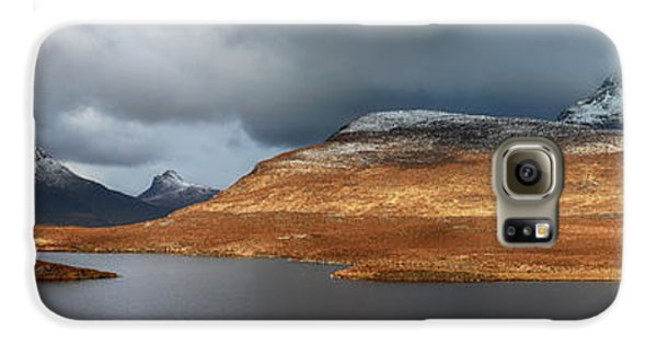 Mountain Pano From Knockan Crag Galaxy S6 Case by Grant Glendinning