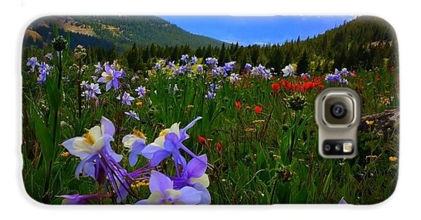 Mountain Wildflowers Galaxy S6 Case by Karen Shackles