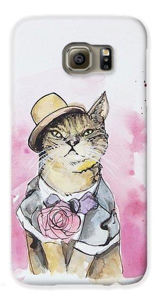 Cat Galaxy S6 Case - Mr Cat In Costume by Venie Tee