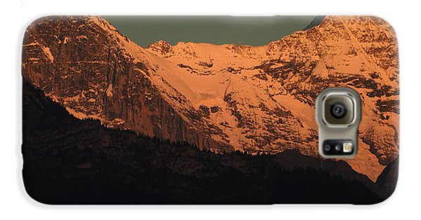 Mt. Eiger And Mt. Moench At Sunset Galaxy S6 Case