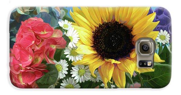 Daisy Galaxy S6 Case - Multicolor Flowers by Lucie Bilodeau