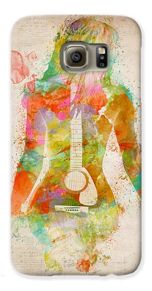 Largemouth Bass Galaxy S6 Case - Music Was My First Love by Nikki Marie Smith