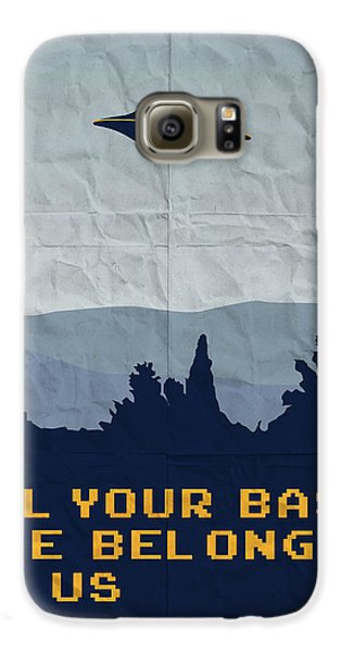 My All Your Base Are Belong To Us Meets X-files I Want To Believe Poster  Galaxy S6 Case