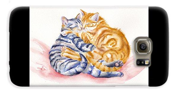 Cat Galaxy S6 Case - My Furry Valentine by Debra Hall