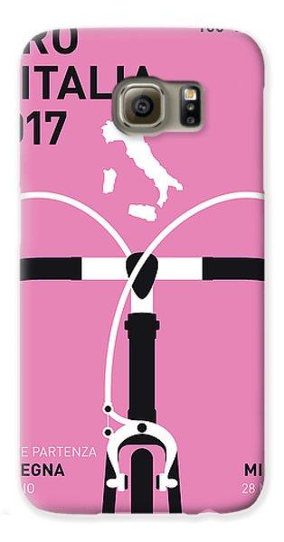 My Giro Ditalia Minimal Poster 2017 Galaxy S6 Case by Chungkong Art