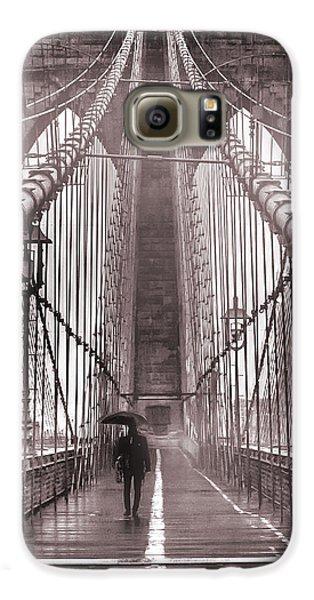 New York City Skyline Galaxy S6 Case - Mystery Man Of Brooklyn by Az Jackson