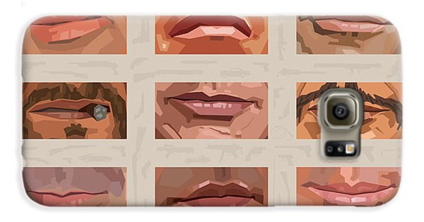 Mystery Mouths Of The Action Genre Galaxy S6 Case by Mitch Frey