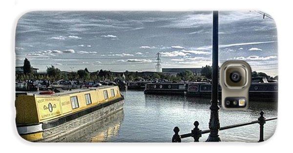 Sky Galaxy S6 Case - Narrowboat Idly Dan At Barton Marina On by John Edwards