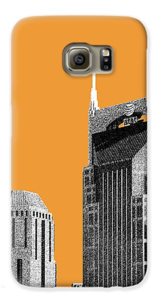 Nashville Skyline At And T Batman Building - Orange Galaxy S6 Case
