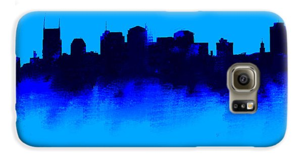 Nashville  Skyline Blue  Galaxy S6 Case by Enki Art