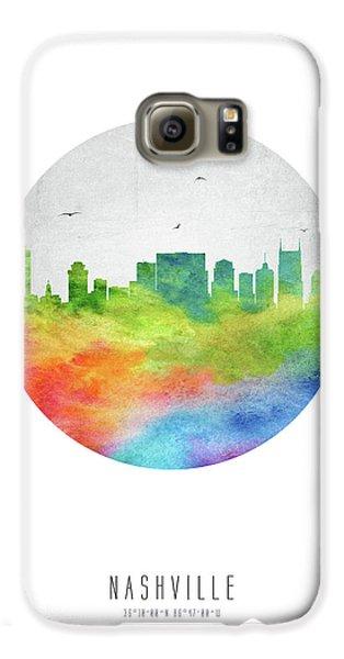 Nashville Skyline Ustnna20 Galaxy S6 Case by Aged Pixel