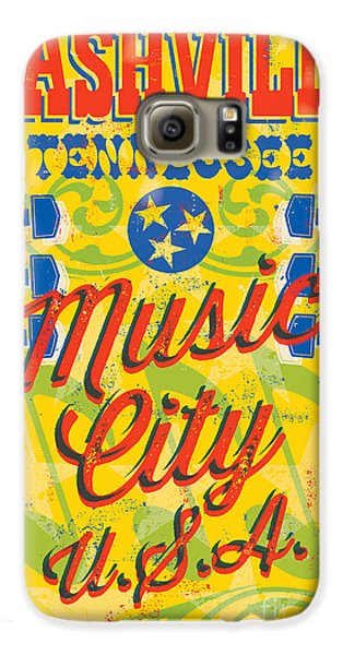Nashville Tennessee Poster Galaxy S6 Case